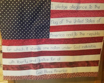 American Flag Pledge of Allegiance wall hanging