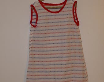 Patriotic Red White and Blue Reversible Dress