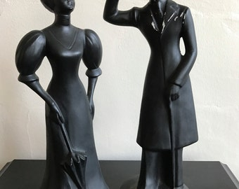 Royal Wessex black figurines