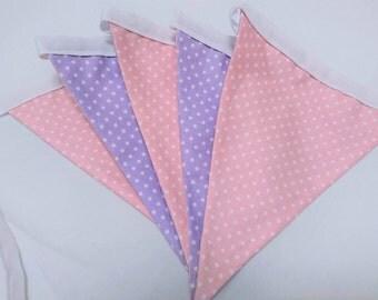Baby Pink and Lilac Polka Dot Bunting