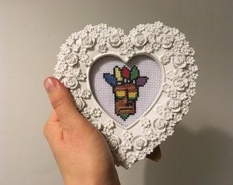 Aku Aku cross stitch