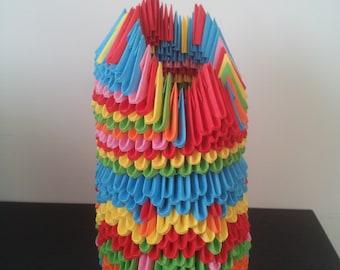 3 D colourful vase