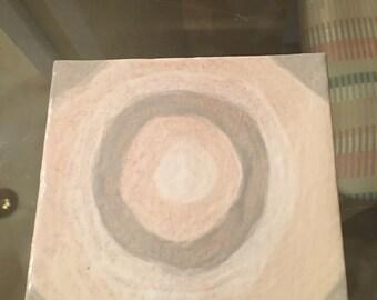 April birthstone inspired coaster