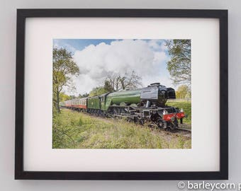 The Flying Scotsman-FREE POSTAGE-framed photographic print-wall art-train