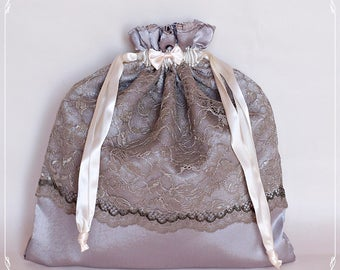 Chic satin lace bag