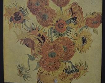 Vintage Print of Van Gogh's 'Sun Flowers' Painting