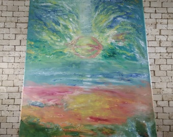 "original painting,oil painting ,sun set painting,20""35"""