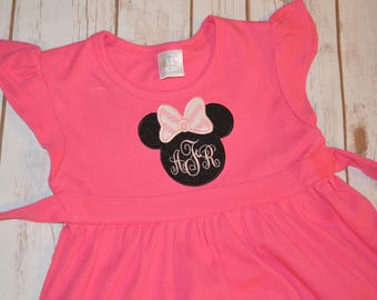 Minnie Applique Dress- Portion of Sales Donated to Cure SMA