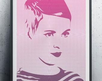 Art Print - Jean Seberg 60s Icon