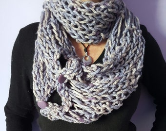 Scarf, knitted scarf, wool made