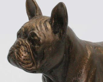 French Bulldog Standing - Small Cold Cast Bronze Dog Statue
