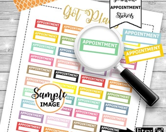 Appointment Stickers, Planner Stickers, Printable Planner Stickers, Appointment Planner Stickers, Functional Stickers, Stickers For Planners