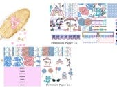 Gliiter Carnival, Cotton Candy, Lollipop, Circus Mini Happy Planner Weekly Spread