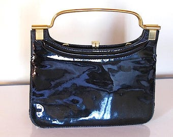 Vintage French leather bag 1960 made in France