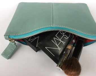 Leather makeup case or clutch