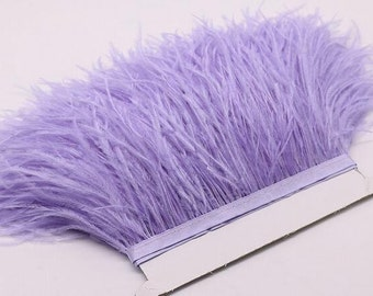 High Quality Ostrich Trims Ostrish Fringe Feathers Sewn on Tapes Ostrich Feathers 1 Yard Fast Shipped from GA, USA