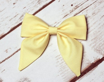 Light Yellow Sailor Bow