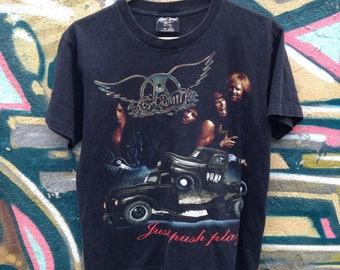 Aerosmith Just Push Play Tee Shirt Vintage 2001