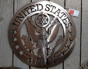 """United States Army Steel Sign 24"""" Military Art Decor"""