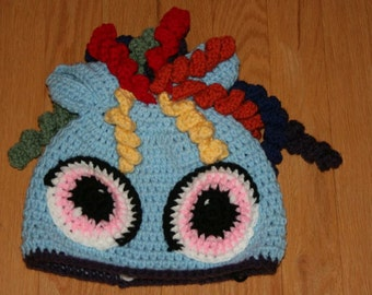 My Little Pony Rainbow Dash Inspired Crochet Hat