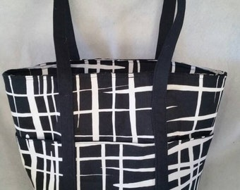 Black and White Small Tote