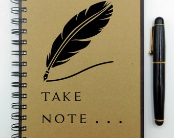Writing Journal, Spiral Bound Notebook, Personalized Notebook