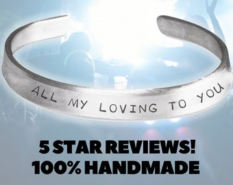 All My Loving To you - The Beatles Jewelry Handmade Aluminum Bracelet - The Beatles Clothing - The Beatles Gifts - The Beatles  Bracelet