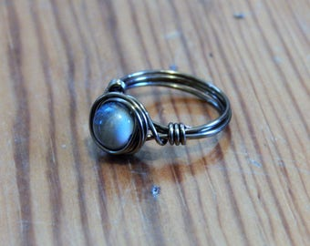 Ceramic Stone Wire Ring
