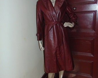 Vintage Etienne Aigner Leather Coat