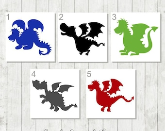 Baby Dragon Decal - Dragon Decal - Dragon Party Favors - Dragon Tumbler Decal - Dragon Sticker - Dragon Birthday Gift - Cute Dragon Decal