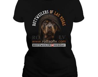 Rottweilers Of Las Vegas ROLV Ladies T-shirt,rottweiler t-shirt,rottweiler tees,rottie tees,rottweiler shirts,rottweiler fans,rottweiler tee
