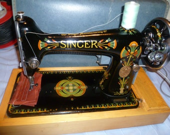Vintage 66K Singer Sewing Machine 1917