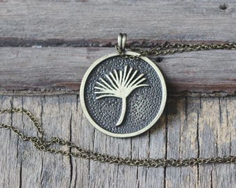 Round Dandelion Seed Necklace Christmas gifts