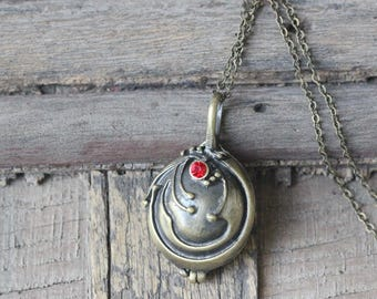 Elena Vervain silver Locket necklace  The Vampire Diaries inspired Rebecca locket jewelry C477N