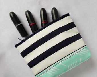 Sail Way! Striped Small Make Up Bag
