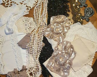 Vintage and New lace and linen lot 7