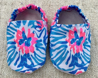 Lilly Pulitzer Inspired Baby Booties