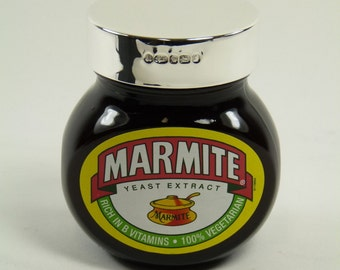 Solid Sterling Silver LID - MARMITE Jar - 125g - Boxed!