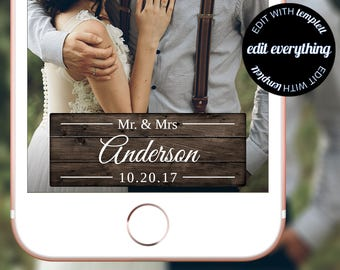 Rustic Wedding Snapchat Geofilter - Rustic Geofilter - Wedding Snapchat Geofilter - Wedding Geofilter - Rustic Snapchat - Snapchat Wedding