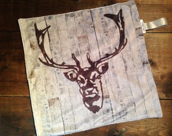 NEW! Lovey Blanket - Deer Silhouette on Wood