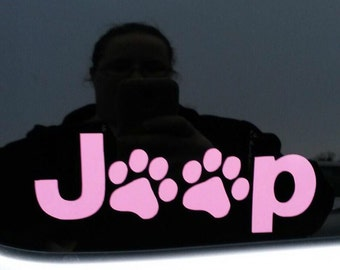 Jeep puppy paws decal