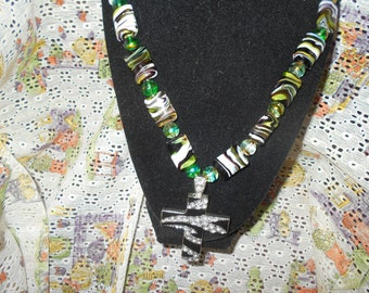This is a man's statement necklace...big and powerful!