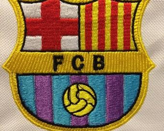 Shield F.C. Barcelona wilcom embroidery embroidery