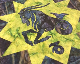 Art Quilt Capricorn Altar Cloth