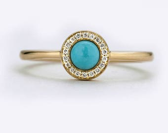 turquoise engagement ring set natural turquoise ring alternative engagement ring turquoise jewelry turquoise diamond ring halo - Turquoise Wedding Rings