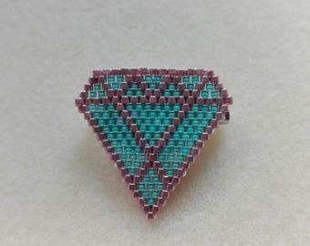 Brooch beads Miyuki - diamond
