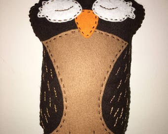 Owl felt plush toy