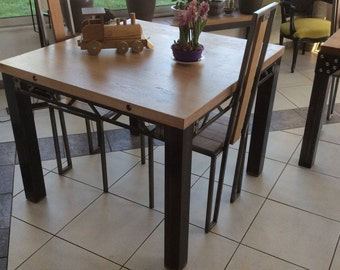 Industrial table with chairs