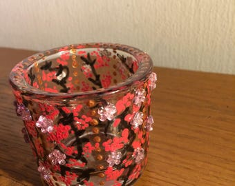 House decoration: glass votive holder