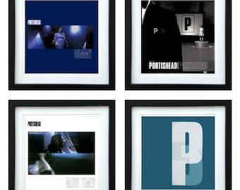Portishead - Framed Album Art - Set of 4 Images